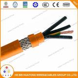Rivestimento di PVC libero 0.6/1kv dell'alogeno di LSZH e cavo di rame in scatola generale del collegamento del motore dello schermo