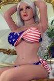 Señora americana Real Sex Love Doll de la libertad el 158cm del gusto