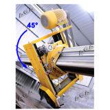 Laser-Brücken-Scherblock mit der Schaufel, die 45 Grad kippt