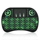 3 teclado Backlit mini teclado do rádio das cores I8 sem fio 2.4G