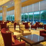 Solo sofá de madera moderno para el área del público del hotel