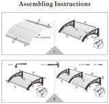 Toldo de alumínio da manufatura para a proteção de chuva do indicador da porta