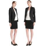 Черная куртка костюма дела повелительниц кофточки с Одн-Кнопкой Tr