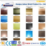 Venta caliente 201 304 precio inoxidable de la placa de acero de 316 colores