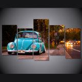 HD imprimió la pintura del coche del escarabajo de Volkswagen en el cuadro Mc-038 del cartel de la impresión de la decoración del sitio de la lona