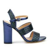 (Donna-in) sandali spessi delle donne dell'alto tallone della rappezzatura del tessuto di modo