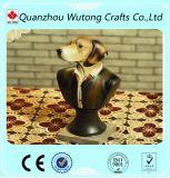 Handgemachter Harz-Hund mögen Herr-Skulptur-Modell für Hauptdekoration