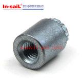Suportes isoladores de aço principais redondos trivalentes do zinco azul