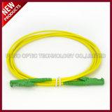 Режим OS2 E2000 APC оптического волокна одиночный к кабелю заплаты разъема E2000 APC
