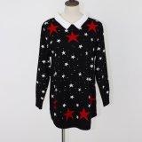 ジャカードデザインおよびビスコースナイロンポリエステル品質柔らかいHandfeelのLadeisのセーターの服