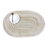 100% pp. ovales Placemat für Tischplatte u. Bodenbelag