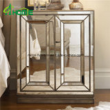 Mobília Nightstand espelhado Handmade/tabela do quarto de cabeceira espelhada
