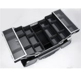 Случай профессиональной портативной коробки состава большой емкости вагонетки косметический