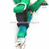 Poliéster de alta qualidade do arco-íris 15mm da Quente-Venda/trela de nylon & colar & chicote de fios ajustáveis