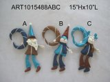 Porte-objets de Noël Santa, Snowman et Moose Décoration de Noël -3sst.