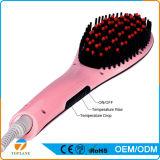 El cepillo más nuevo 2 del cuidado de pelo en 1 enderezadora eléctrica del pelo del peine de la visualización del LCD de la alta calidad