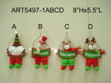 """14 """" H restant les jouets souples de décoration de Bonhomme de neige-Noël de Santa"""
