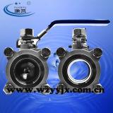 Válvula de esfera de Kf do vácuo do aço inoxidável