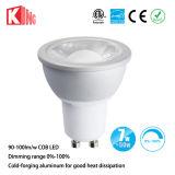 Kingliming AC85-265V alto lumen 7W COB LED GU10, GU10 Bombilla LED regulable