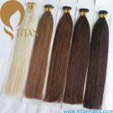 Extensão Pre-Ligada do cabelo da ponta do cabelo humano U de Remy da queratina