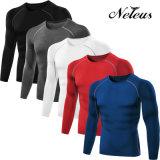 Vestiti correnti Dt0013 della maglietta di sport di compressione degli uomini di Neleus