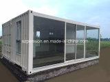 능률적인 여가 생활 현대 변경된 콘테이너 조립식으로 만들어지는 조립식 햇빛 룸 또는 집