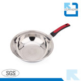 La batterie de cuisine d'acier inoxydable de qualité a placé avec le carter de bouilloire et de bac et de friture d'action