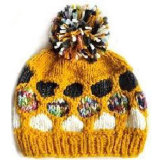 Шлем зимы девушки с цветком (JRK155)