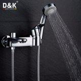 Robinet de douche / baignoire en laiton chromé à chaud avec kit de douche