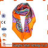 La longue coutume colorée bon marché de sublimation de foulard a estampé l'écharpe de soie de 100%