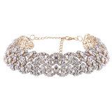 Ювелирные изделия ожерелья чокеровщика краткости цветка диаманта Rhinestone Bling способа роскошные блестящие