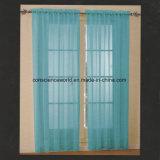 부채 모양으로 만들어진 바닥을%s 가진 100%Polyester 창 커튼 수를 놓은 투명한 위원회