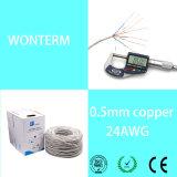 Câble de caractéristiques de téléphone mobile en PVC blanc