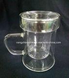 Copo de chá do vidro de Borosilicate com Infuser