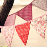 Banderas baratas vendedoras calientes del Bunting de la bandera de la tela del triángulo de la vendimia de la alta calidad