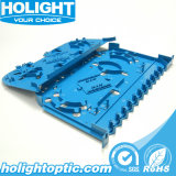 Bandeja de empacotamento de 12 portas de fibra óptica para equipamento de fibra ótica