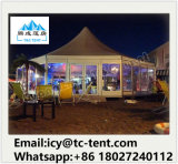 Outdoor 3mx3m, 4mx4m, 5mx5m de PVC de alumínio Pagoda Canopy Gazebo Tent for Party Wedding