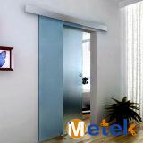 Sistema de cierre de puerta de vidrio sin marco de aluminio