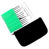 Grünes transparentes Praxis-Vorhängeschloß mit Segeltuch-Beutel 15PCS Lockpicking bearbeitet grünen Silikon-Kasten (kombiniertes 6-4)
