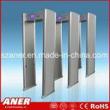 Caminata de la sensibilidad del fabricante de China alta a través de la puerta con 6 zonas