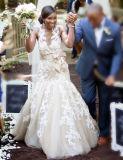 Applique над платьем венчания W1471944 Mermaid Шампань Tulle безрукавный