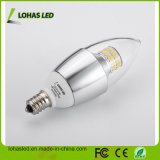 E12 E14 6W calientan la bombilla de la vela blanca del LED