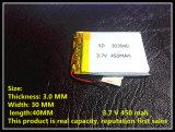 Батарея 450mAh OEM 303040 3.7V Lipo RC фабрики Shenzhen поставщика Китая для вертолета полимера RC Li малого, GPS, MP3, MP4, инструментов