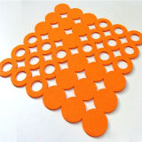 Almofada de feltro para esferas Trivets de feltro da esteira do copo de feltro dos Coasters