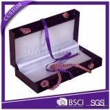 Lujo tapa con bisagras espejo de joyas decoradas caja de regalo