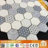 Nuovo disegno delle mattonelle miscela porcellana e vetro Mosac (M555007)