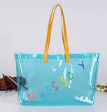 Handtas van pvc van de manier de Blauwe voor het Winkelen Zak