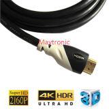 Cabo do elevado desempenho 2.0 4k HDMI com o conetor chapeado ouro