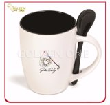 Customized Full Color Printed Porcelain Mug with Spoon