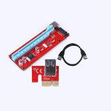 Tarjeta 1X de la canalización vertical de Pcie 16X a USB 3.0 SATA al conector de potencia de 4pin IDE